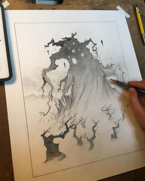 The Umbra Tree drawing