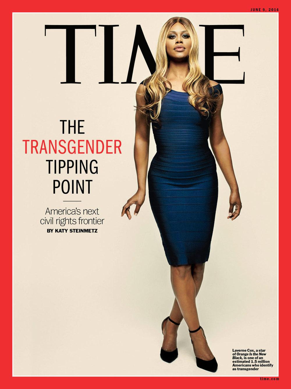Magazine: Time Magazine; Actress: Laverne Cox; Stylist: Christina Pacelli;