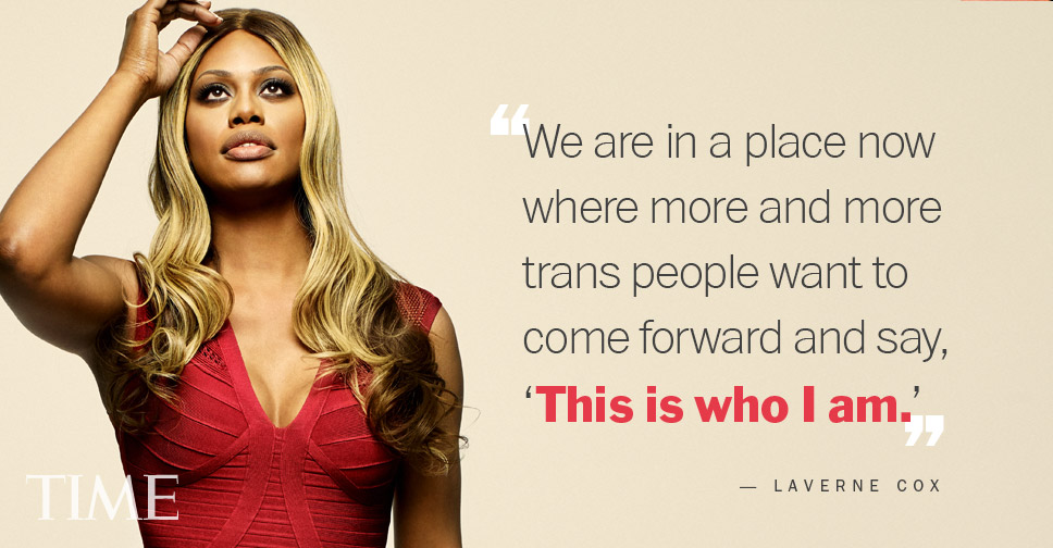Magazine: Time Magazine; Actress: Laverne Cox; Stylist: Christina Pacelli;