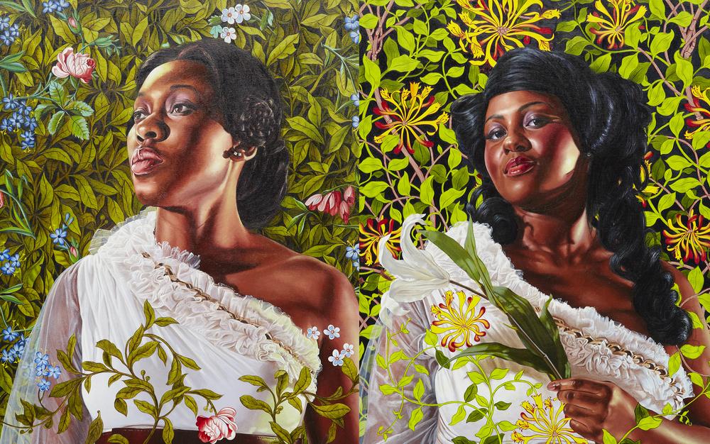 Economy of Grace; Artist: Kehinde Wiley; Models: Dacia Carter/Ena Johnson