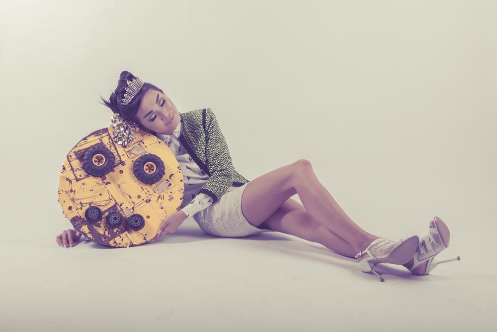 Promoshoot for Singer: Emergency Tiara; Stylist: Ryan T. Hall