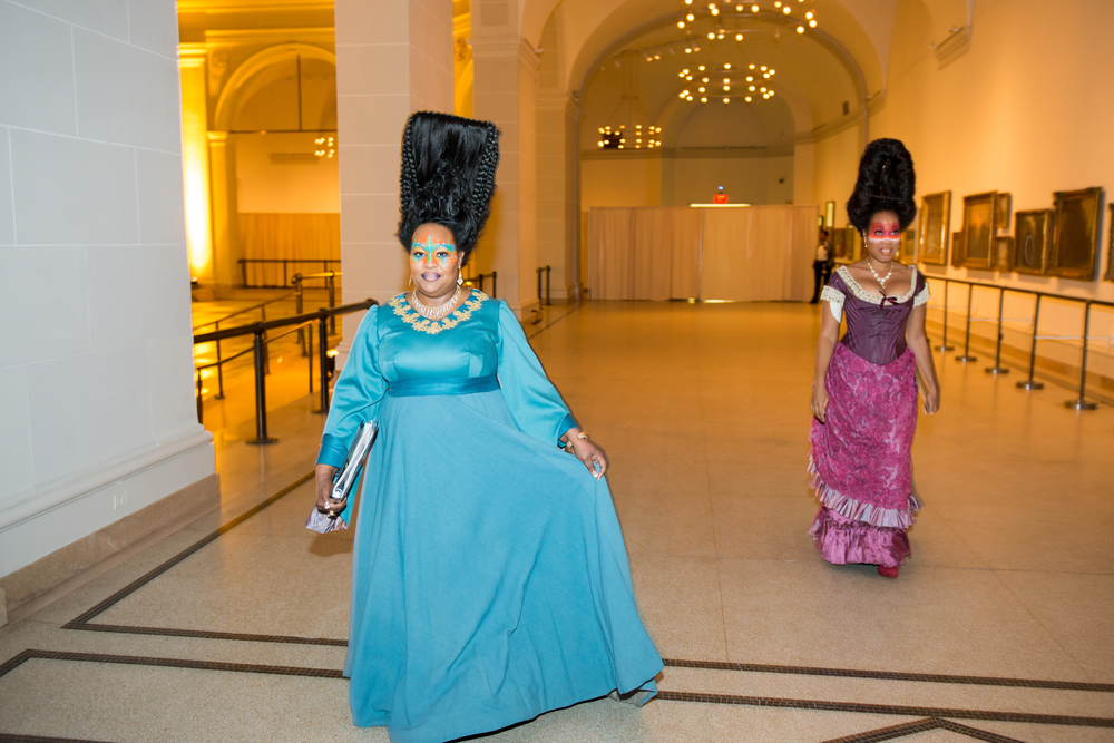 "Kehinde Wiley ""A New Republic"" at Brooklyn Museum ((Singer: Janinah Burnett, Lucia Bredford) Photo by Jean Keon"