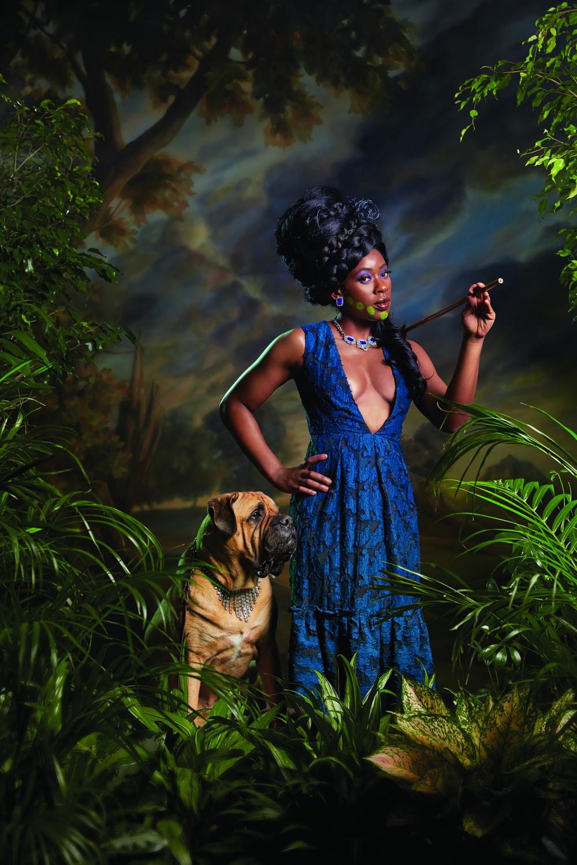 Magazine: New York Mag; Portfolio on Kehinde Wiley; Photographer: Norman Jean Roy; Stylist: Rebecca Ramsey; Model: Dacia