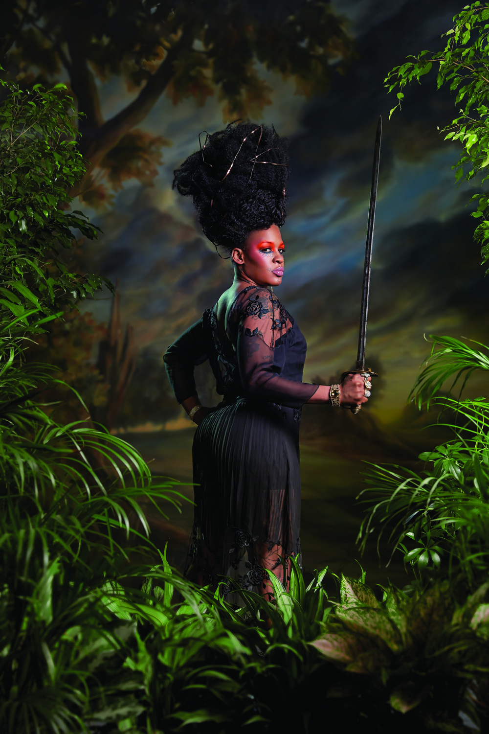 Magazine: New York Mag; Portfolio on Kehinde Wiley; Photographer: Norman Jean Roy; Stylist: Rebecca Ramsey; Model: Treisha