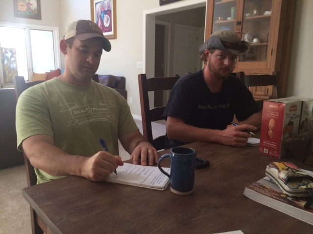 Planning for the Primitive Skills Weekend: Patrick Gibson and Evan O'Donnell