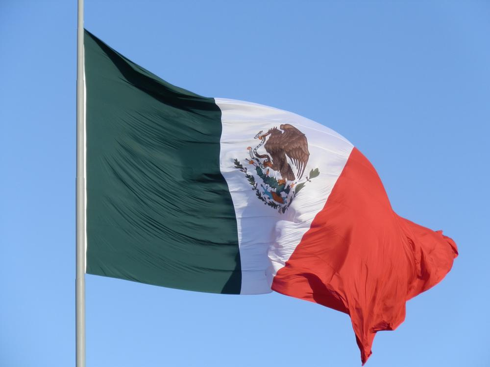 MEXICAN FLAG IN THE ZOCALO