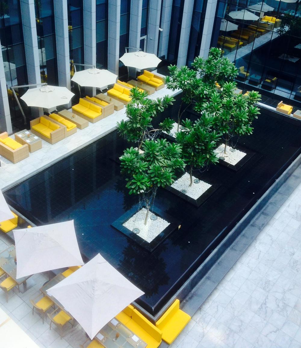 Atrium sitting area