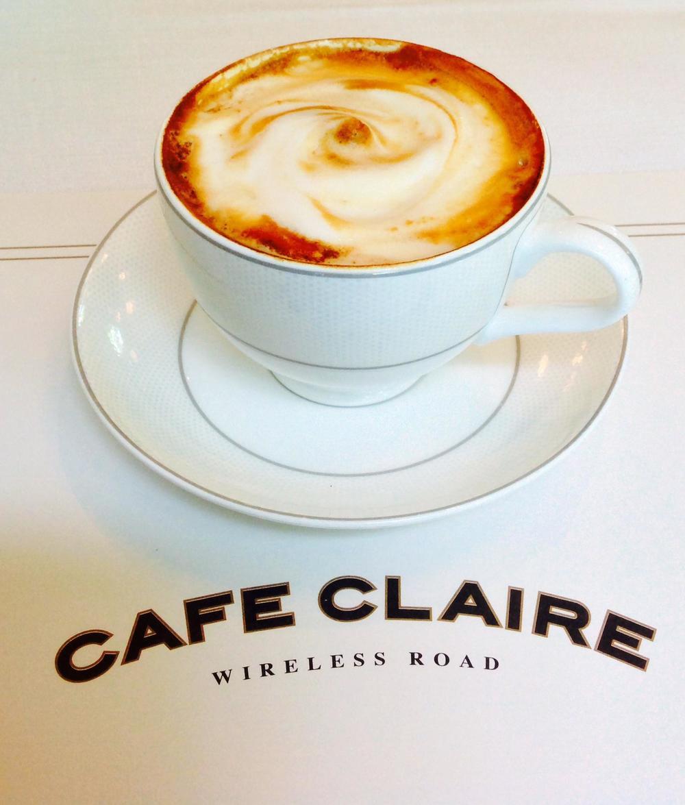Creamy, strong, cappuccino.