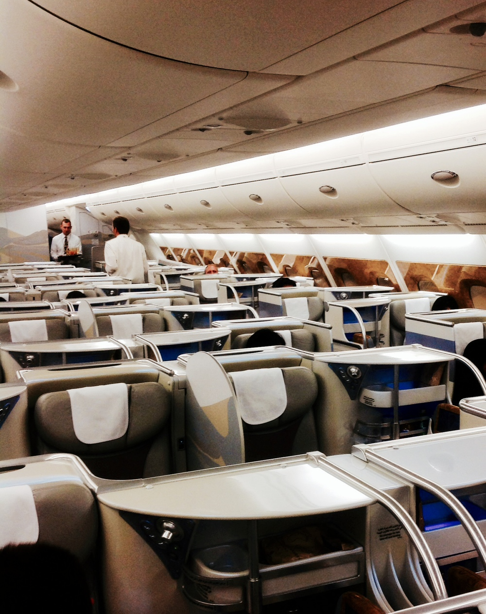 Business Class Cabin onboard the A380