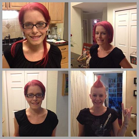 My hair was coming out on my terms, not chemo's. You have to turn the negatives into positives! #jj_forum_1355 #pinkthreads #cancersucks #imstronger