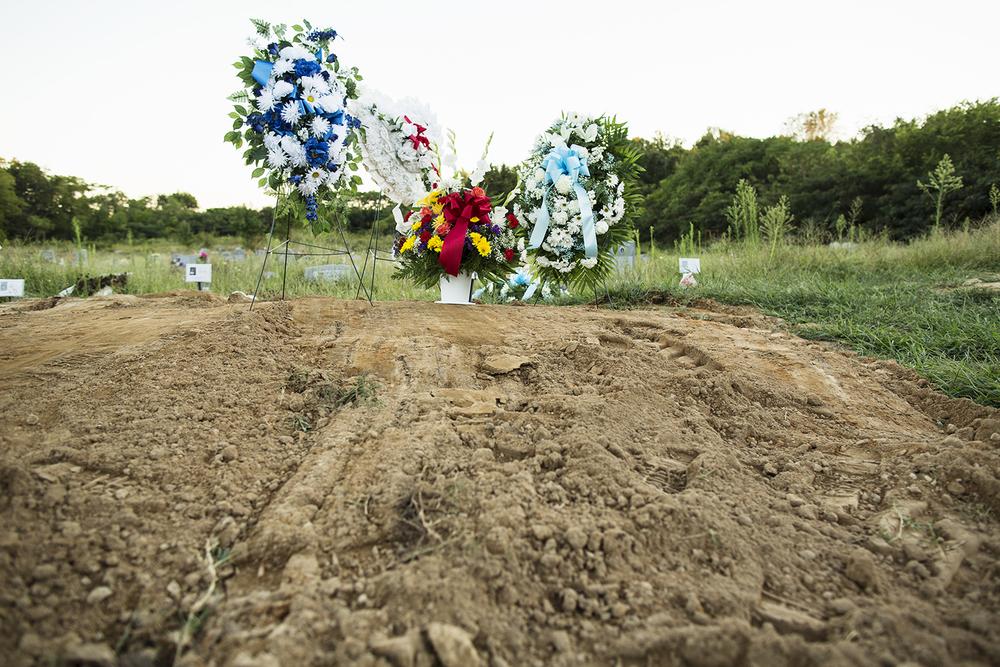 Recent interment, Evergreen Cemetery, Richmond, VA, September 14, 2015