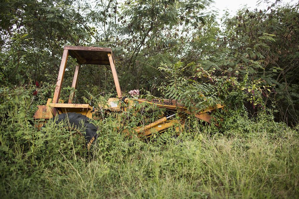 Old machinery, Evergreen Cemetery, Richmond, VA, September 14, 2015