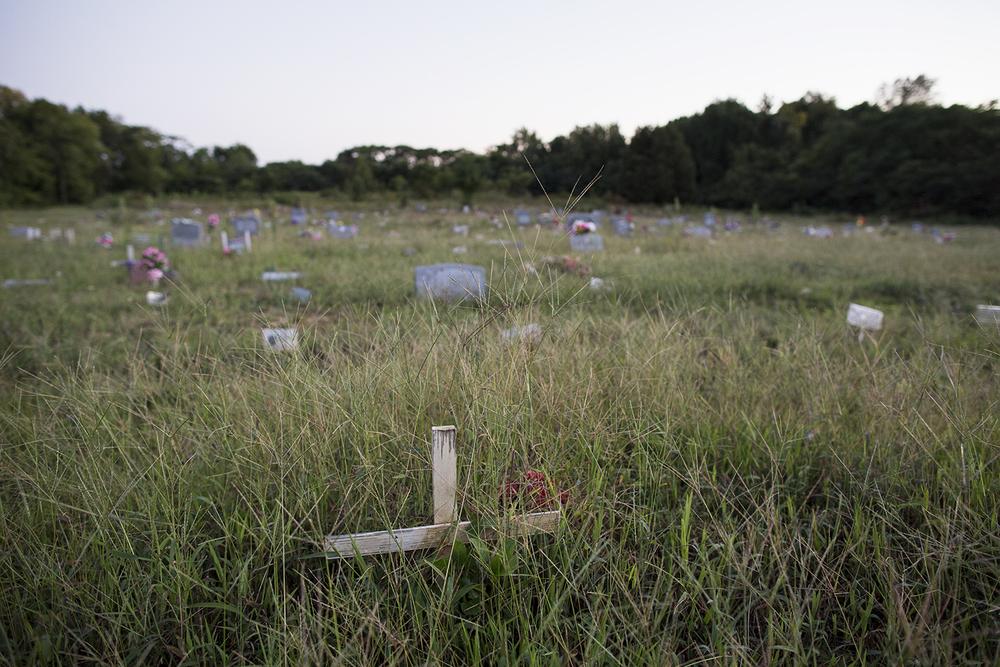 Graves in center section, still active for burials, Evergreen Cemetery, Richmond, VA, September 14, 2015
