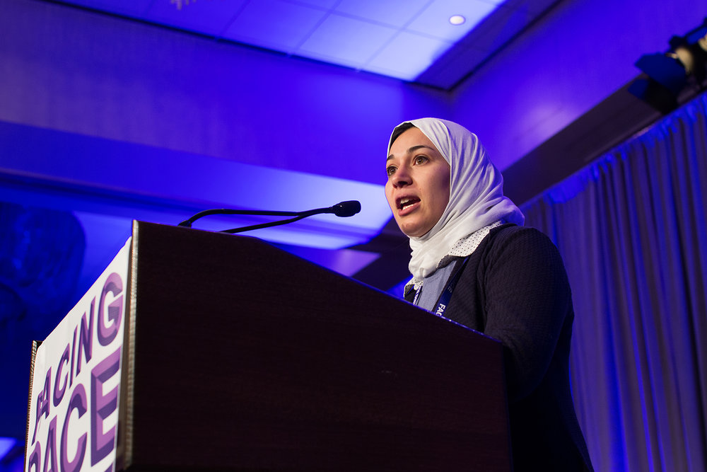Dr. Enas Alsharea speaks at Facing Race 2016,  Atlanta, GA, 12 November