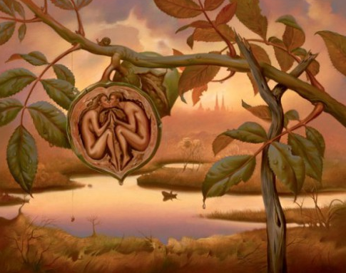 Walnut of Eden – Vladimir Kush – it is the Entelechy of the Walnut to become the tree