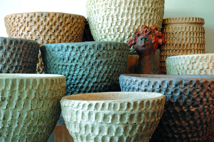 Hand-Coiled Thumbprint Pots