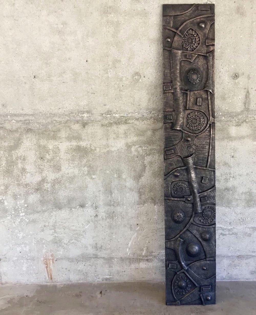 """Bronze relief 8' x 18"""""""