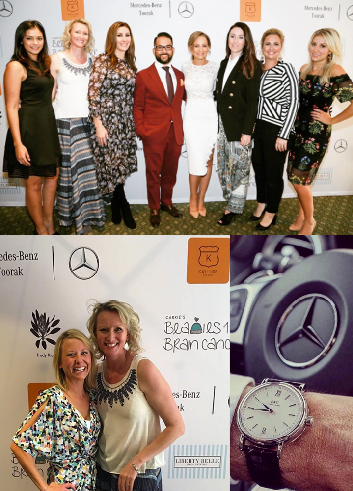 Mercedes Benz Toorak - MOTHER'S DAY LUNCHEONHonoured to sponsor this fabulous event with:Carrie's Beanies 4 Brain CancerKa'llure JewelryLiberty Belle Skin CenterBistro ThierryThank you Lucy, from INCY Marketing for the introduction.