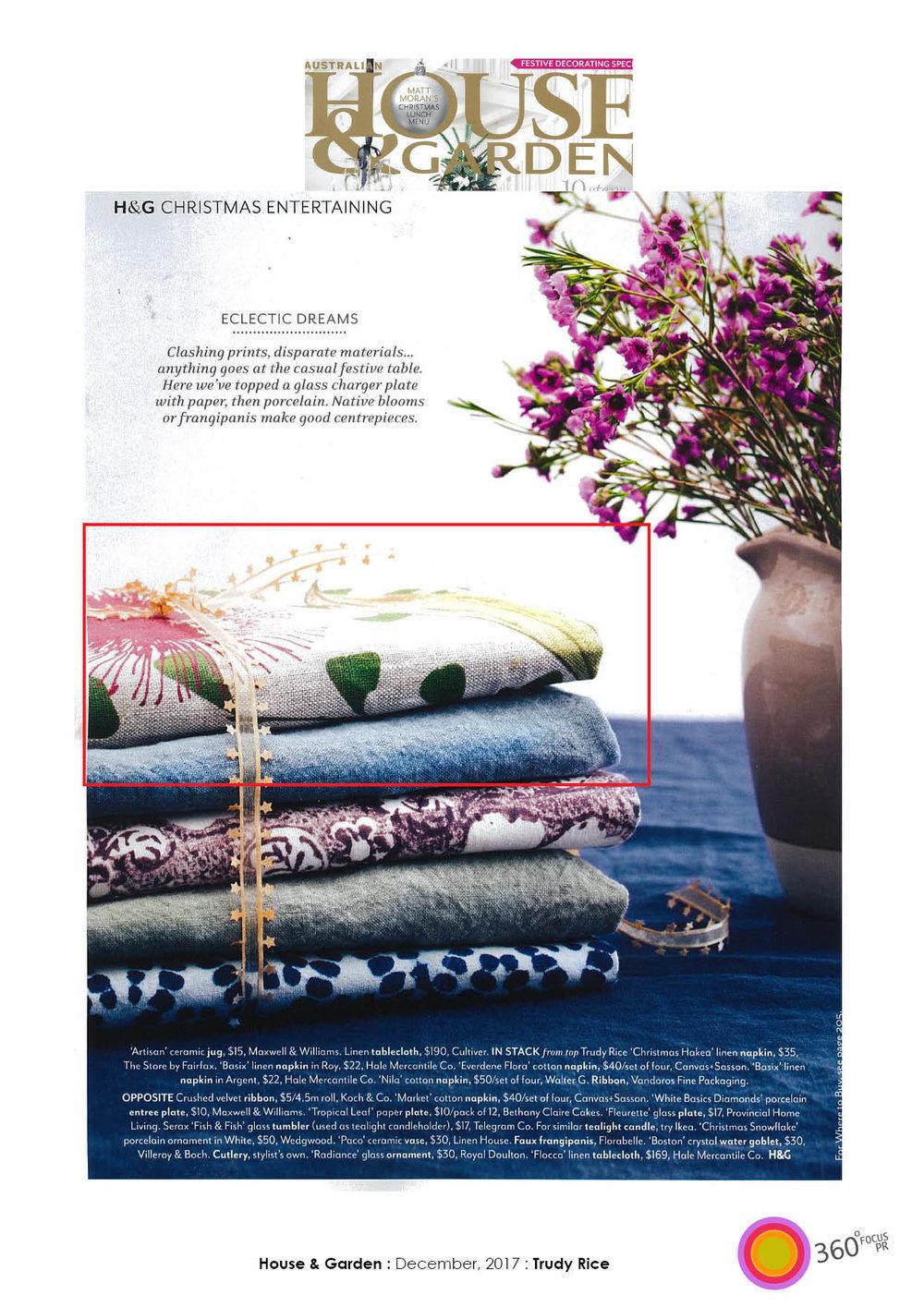 House & Garden - December 2017 Issue