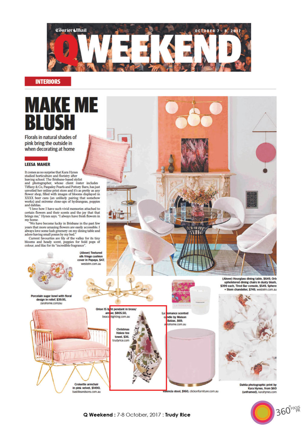 Courier Mail QWeekend - October 2017