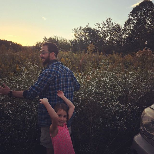 Just enjoying the wildflowers and a sunset after a bike adventure. #letsgetrad #latergram #adventurefamily #fun #avl #wnc #828isgreat #gratitude