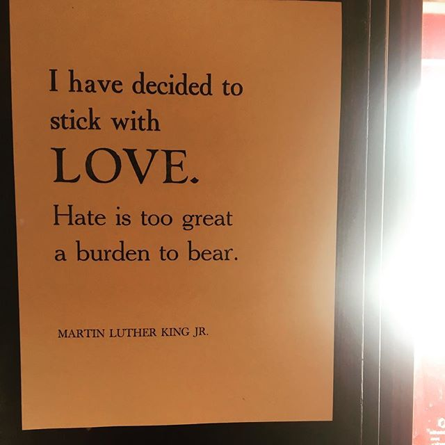 Good morning PSA: Choose love. #love #lovewins #goodmorning #happy #avl #staypositive #smallactscount #mlk #quotes