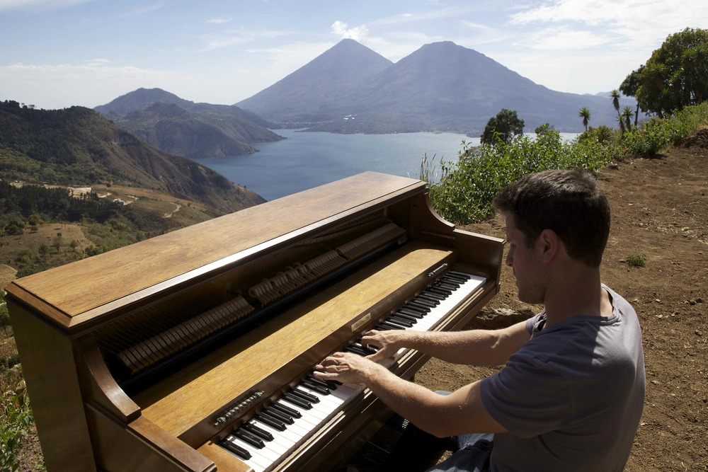Playing piano across the world