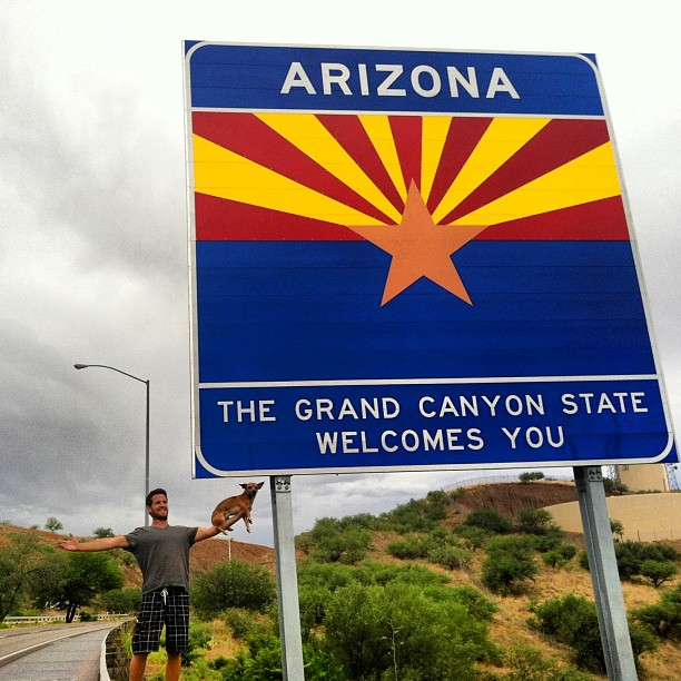welcome to Arizona sign