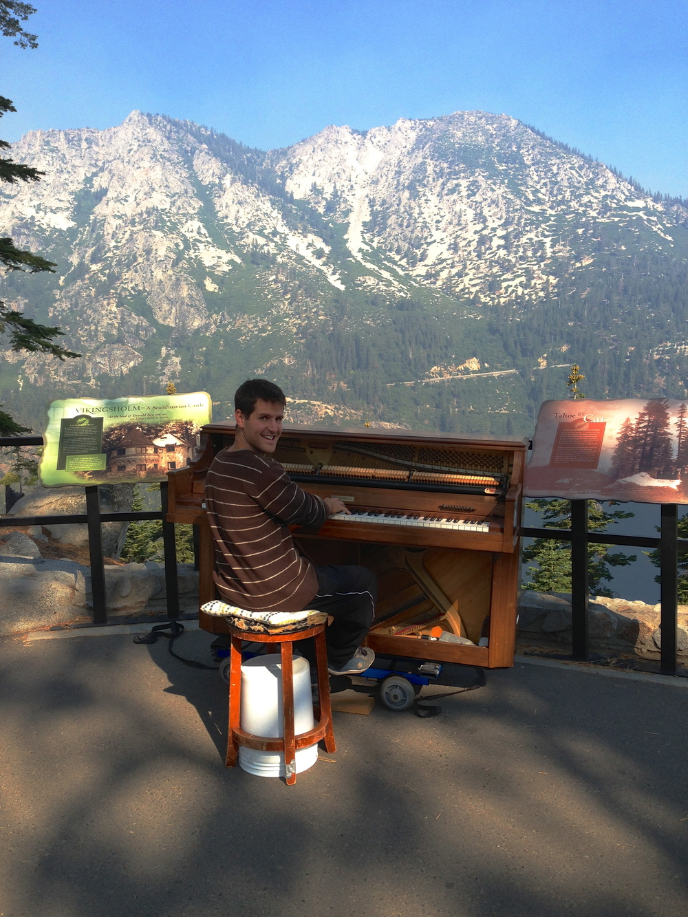 lake tahoe public street piano outdoors