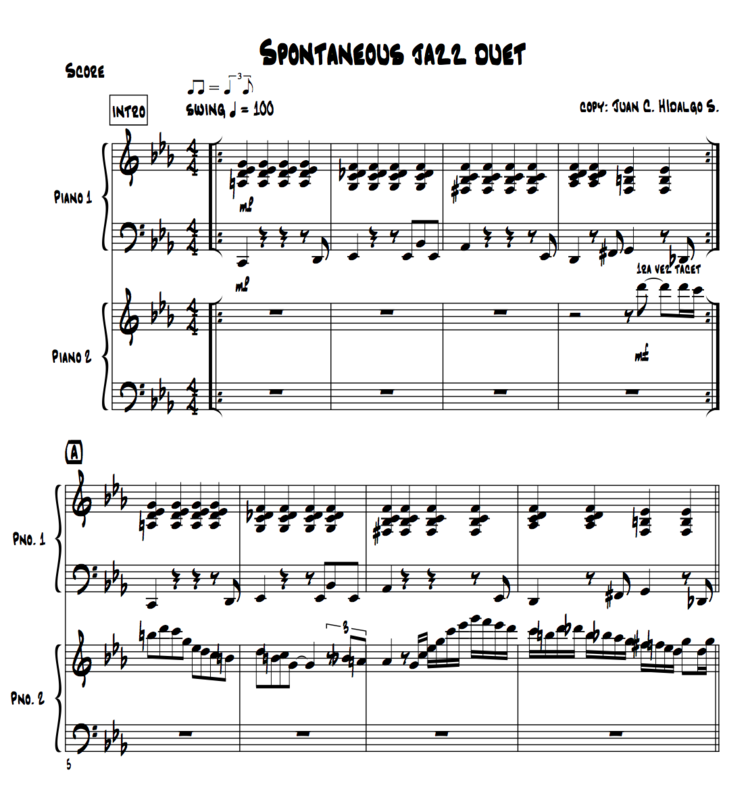 Piano jazz piano sheet music for beginners : Jazz Duet with Frans Bak (Sheet Music) — Piano Around the World