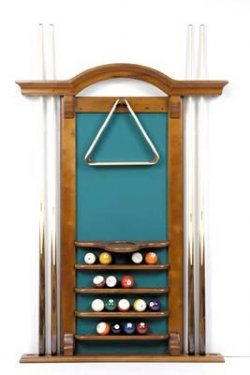 6 Cue Arch Top Wall Rack - Honey