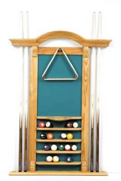 6 Cue Arch Top Wall Rack - Oak