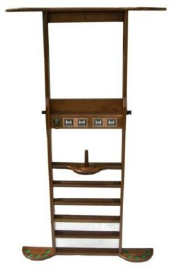 8 Cue Wall Rack - Antique Walnut
