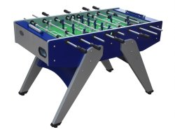 """The Florida"" Outdoor Foosball Table in Blue with both 1 & 3 man Goalie"