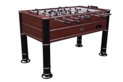 """The Cosmopolitan"" Foosball Table in Brown with 1 or 3 man Goalie option"