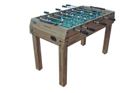 Promotional 4 foot Butcher Block Foosball Table with Telescopic Rods