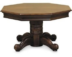 "2 in 1 – 54"" Octagon Poker & Dining in Honey"