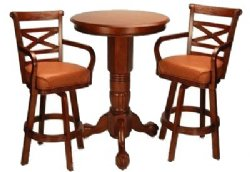 Honey Pedestal Pub Table Set