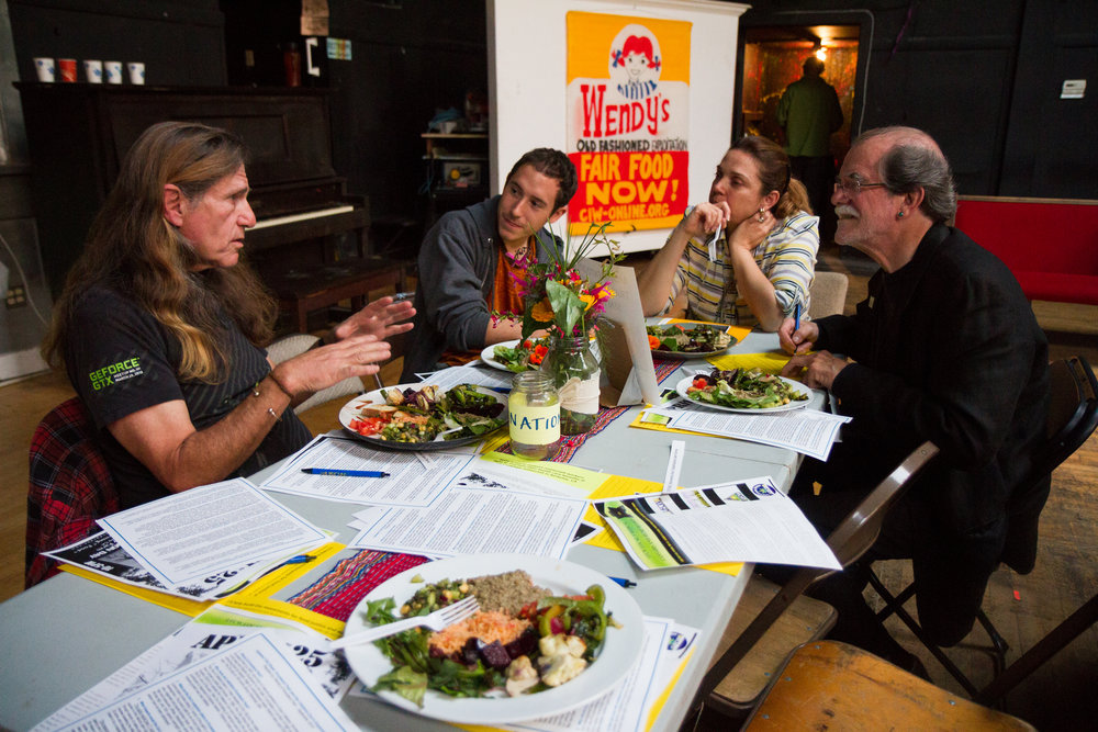Worker Power in Food Justice Community Meal, Oakland