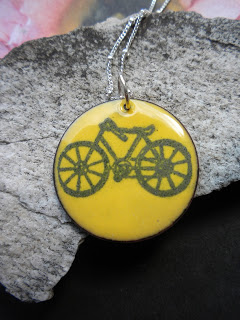 I Heart My Bike Necklace