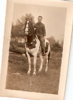 Theodore as a teenager on his horse, Gypsy