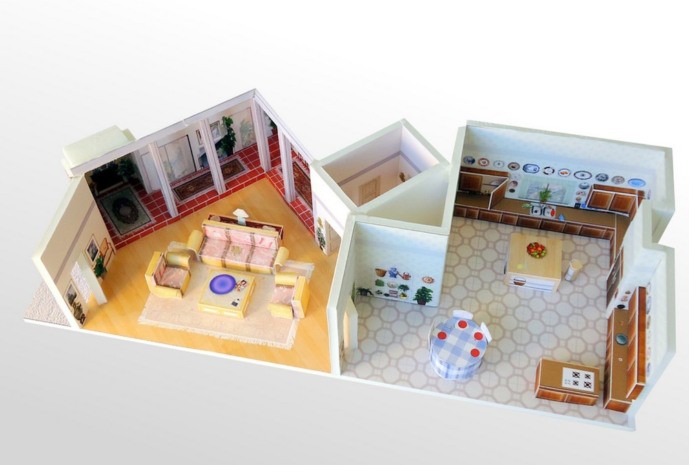 Golden Girls House Paper Model (from  Everyday Miniatures )