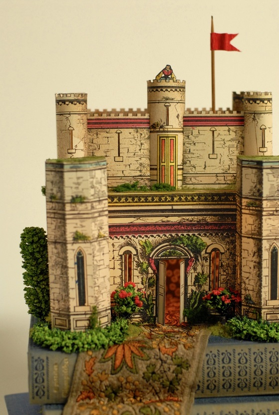 Castle Paper Model and Book Art (from Castle in the Air)