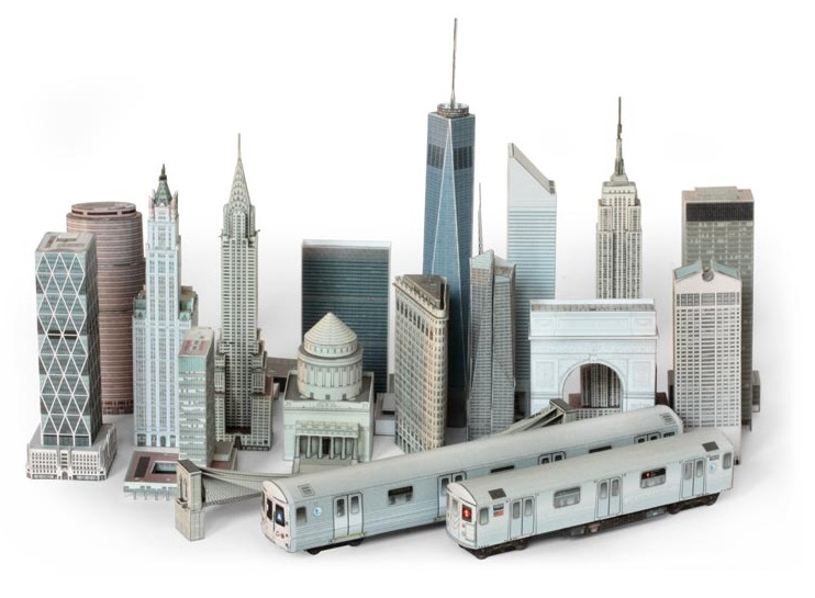 New York City Paper Model (from Build Your Own New York)