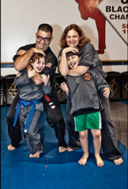 Jess & his family do martial arts together