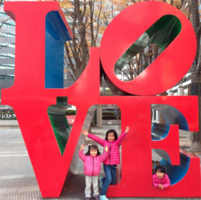 Junichi's daughters show their love