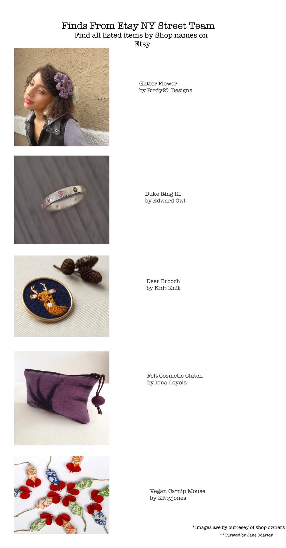 Links  Glitter flower ,  Duke Ring ,  Deer Brooch ,  Felt Cosmetic bag ,  Vegan Catnip Mouse