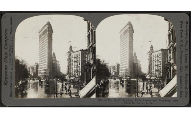 NYC Flat Iron Building Stereoscope slide