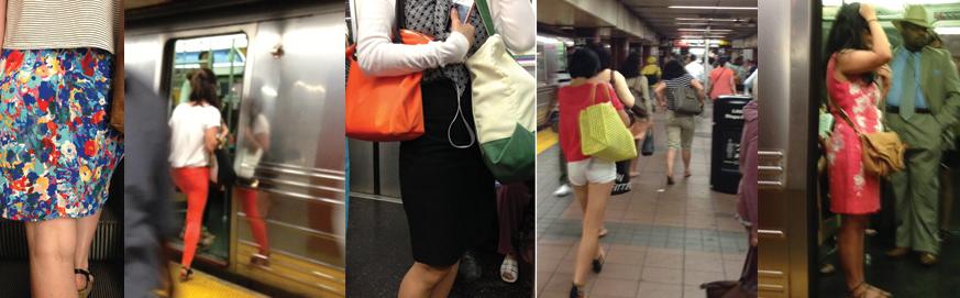 New York City subway riders June 2014