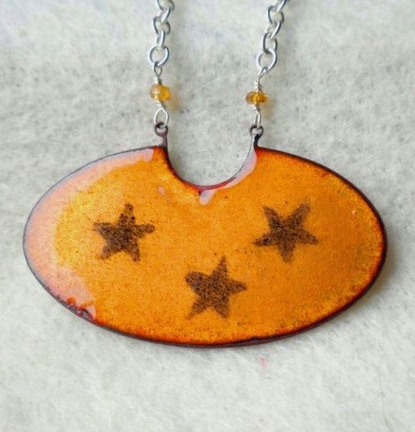 enamel necklace from  Be in the Moment  on Etsy